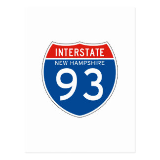 Interstate Sign 93 - New Hampshire Postcard