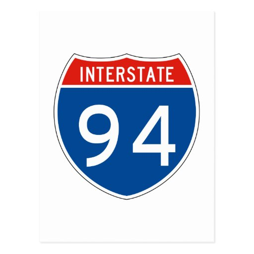 Interstate Sign 94 Postcard