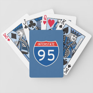 Interstate Sign 95 Bicycle Poker Deck
