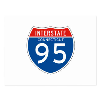 Interstate Sign 95 - Connecticut Postcard