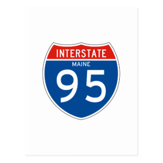 Interstate Sign 95 - Maine Postcard