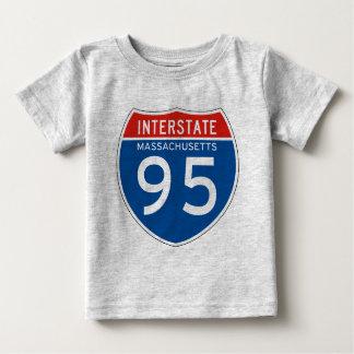 Interstate Sign 95 - Massachusetts T Shirts