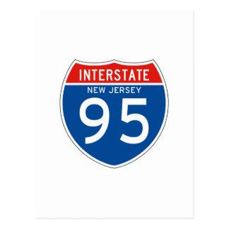 Interstate Sign 95 - New Jersey Postcard