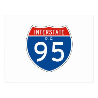 Interstate Sign 95 - Washington DC Postcard