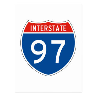 Interstate Sign 97 Postcard