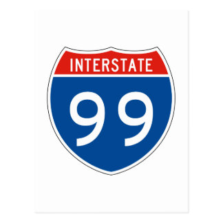 Interstate Sign 99 Post Card