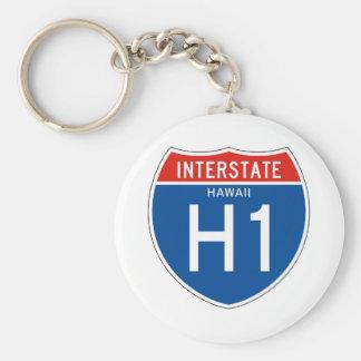 Interstate Sign H1 - Hawaii Key Ring