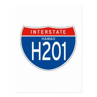 Interstate Sign H201 - Hawaii Postcard