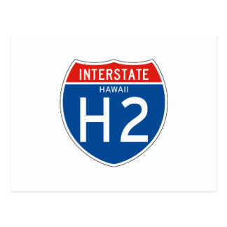Interstate Sign H2 - Hawaii Postcard