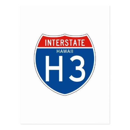 Interstate Sign H3 - Hawaii Postcard