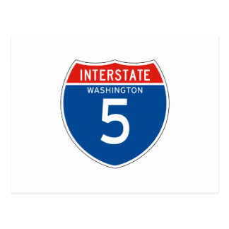 Interstate Sign the 5 - Washingtons Post Card