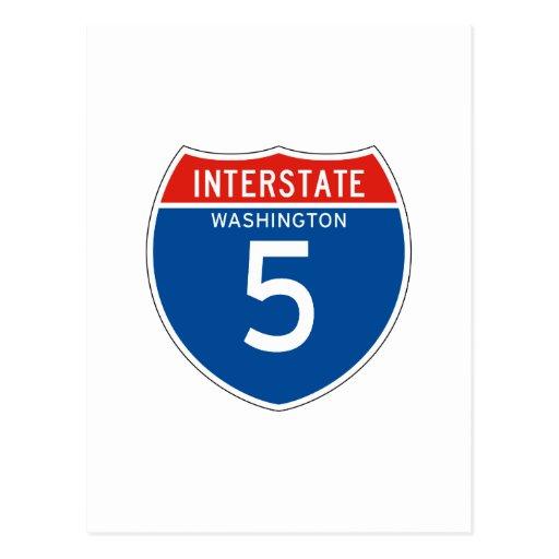 Interstate Sign the 5 - Washingtons Postcard