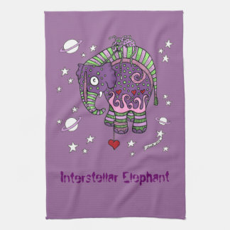 Interstellar Elephant Tea Towel