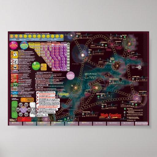Interstellar Poster-Map - High Frontier solitaire
