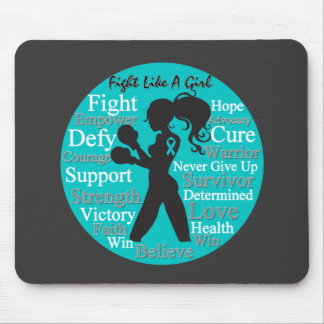Interstitial Cystitis Fight Like A Girl Collage Mousepads