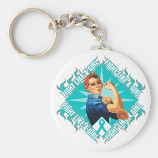 Interstitial Cystitis Fight Rosie The Riveter Key Chains