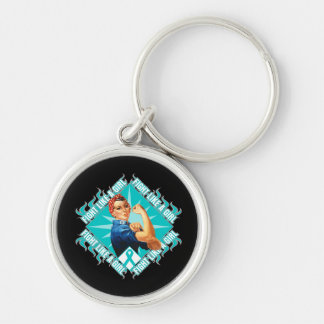 Interstitial Cystitis Fight Rosie The Riveter Keychains