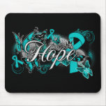 Interstitial Cystitis Hope Garden Ribbon Mouse Pads
