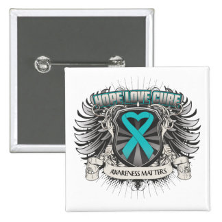 Interstitial Cystitis Hope Love Cure 15 Cm Square Badge