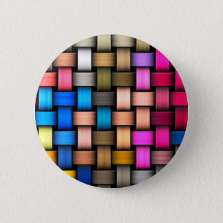 Intertwined abstract background 6 cm round badge
