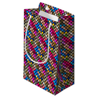 Intertwined abstract background small gift bag