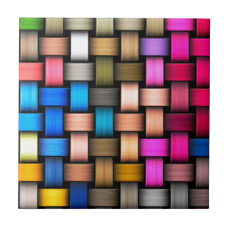 Intertwined abstract background small square tile