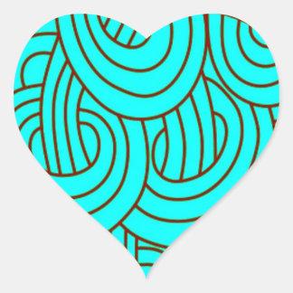 Intertwined aqua C Heart Sticker