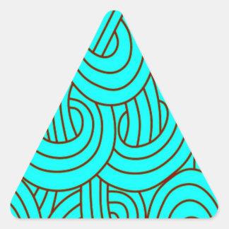 Intertwined aqua C Triangle Stickers