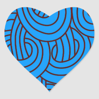 Intertwined blue C Heart Stickers