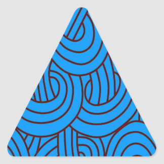 Intertwined blue C Triangle Sticker