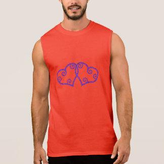 Intertwined Hearts Sleeveless T-shirt