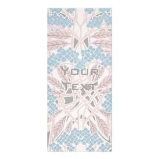 intertwined lovely colorful art nouveau nature personalised rack card