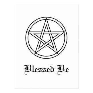 Intertwined White Pentacle Postcard