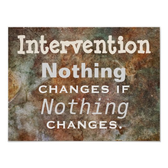 Intervention: Thought for the Day Poster