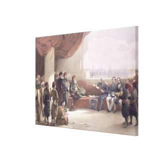 Interview with the Viceroy of Egypt at his palace Canvas Print