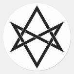 Interwoven unicursal hexagram sticker