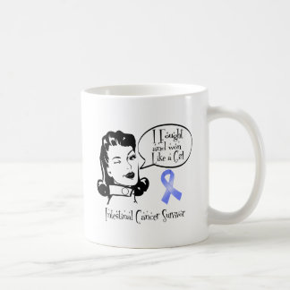 Intestinal Cancer Rosie I Fought Won Like a Girl Coffee Mugs