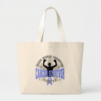 Intestinal Cancer Tough World Champion Survivor Canvas Bag
