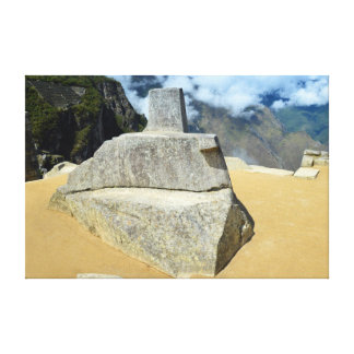 Inti Watana Stone Calendar at Machu Picchu, Peru Canvas Print