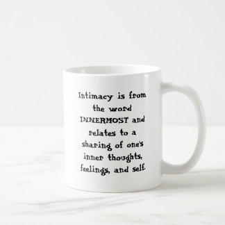 Intimacy Basic White Mug