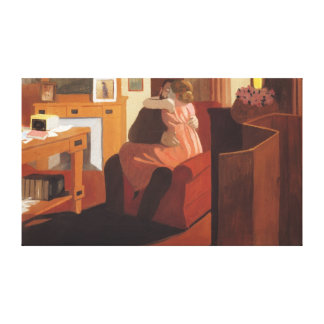 Intimacy Couple in an Interior with a Canvas Print