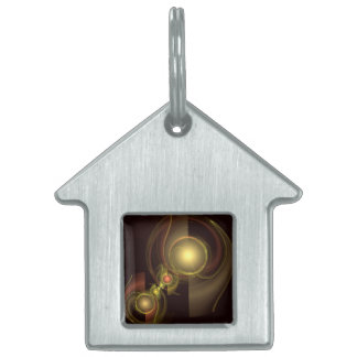 Intimate Connection Abstract Art House Pet Tag