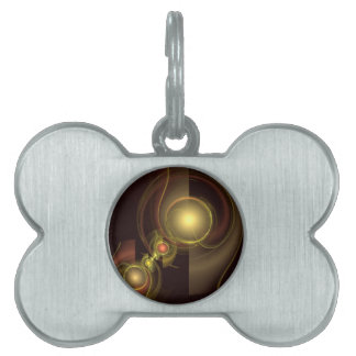 Intimate Connection Abstract Art Pet Tag