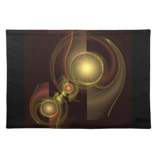 Intimate Connection Abstract Art Placemat