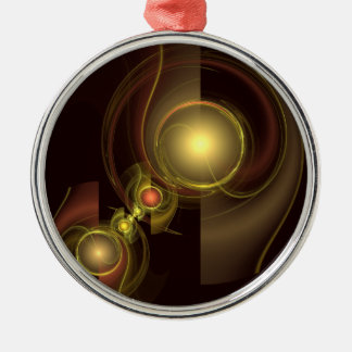 Intimate Connection Abstract Art Round Christmas Ornament