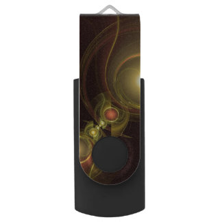 Intimate Connection Abstract Art Swivel USB 2.0 Flash Drive