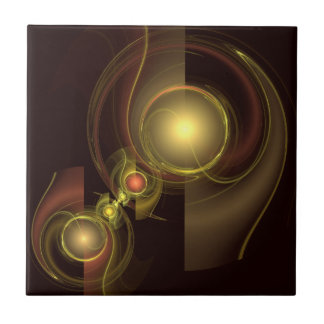 Intimate Connection Abstract Art Tile