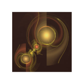 Intimate Connection Abstract Art Wood Print