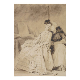 Intimate Conversation by Fragonard Personalized Invites