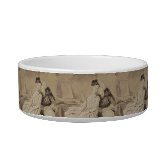 Intimate Conversation by Fragonard Cat Water Bowl